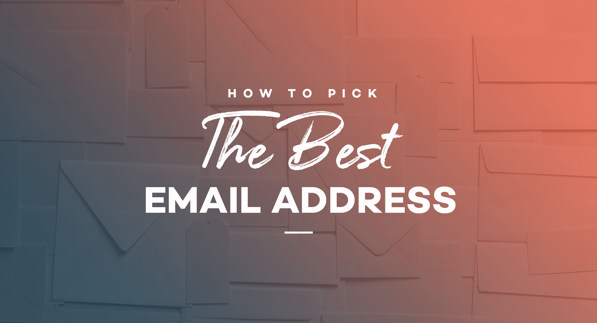 How to pick the best email address