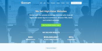QuietLight Brokerage - website screenshot