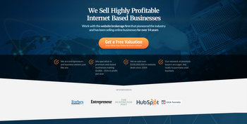 We Sell Your Site - website screenshot